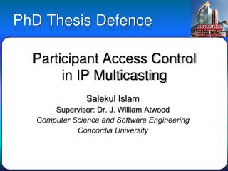 Participant Access Control  in IP Multicasting