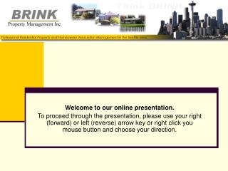 Welcome to our online presentation.