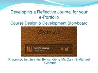 Developing a Reflective Journal for your  e-Portfolio