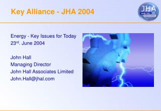 Key Alliance - JHA 2004