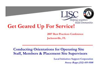 Get Geared Up For Service! 2007 Best Practices Conference 				Jacksonville, FL