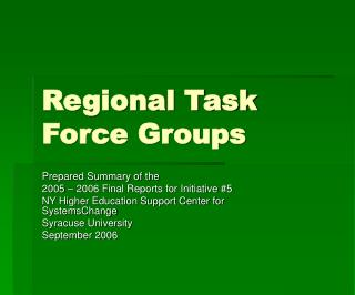 Regional Task Force Groups