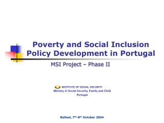 Poverty and Social Inclusion Policy Development in Portugal