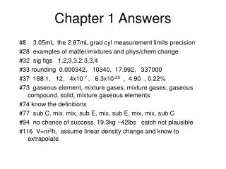 Chapter 1 Answers