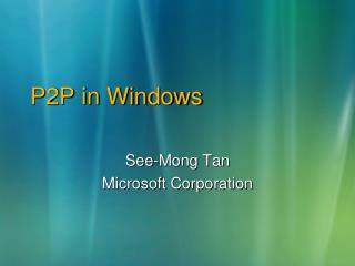 P2P in Windows