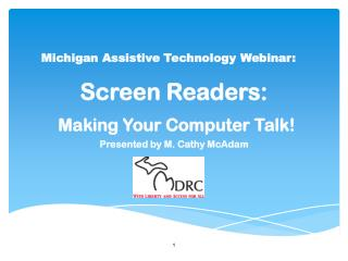 Michigan Assistive Technology Webinar: