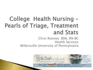 College  Health Nursing – Pearls of Triage, Treatment and Stats