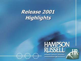 Release 2001 Highlights