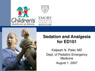 Sedation and Analgesia for ED101