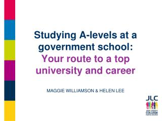 What are A-levels?