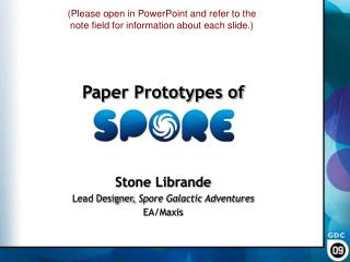 Paper Prototypes of