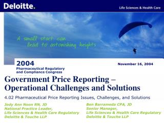 Government Price Reporting – Operational Challenges and Solutions