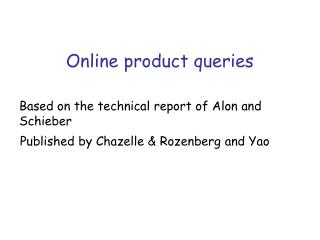 Online product queries