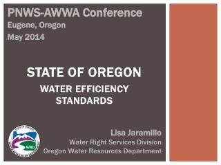 State of Oregon Water Efficiency Standards