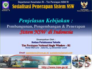 Tim Persiapan  National Single Window  -  RI