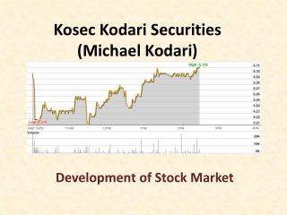 Michael Kodari (Kosec) - Development of Stock Market