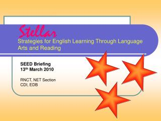 Strategies for English Learning Through Language Arts and Reading