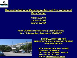 Romanian National Oceanographic and Environmental Data Center
