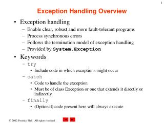 Exception Handling Overview