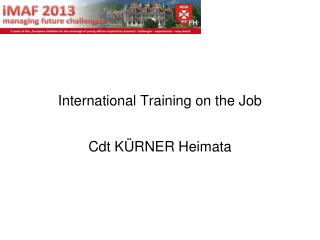 International Training on the Job