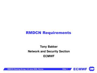 RMDCN Requirements