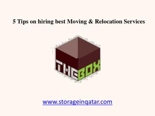 5 Tips on hiring best Commercial Storage Services in Qatar