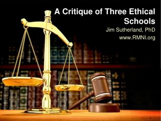A Critique of Three Ethical Schools