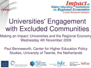 Universities' Engagement with Excluded Communities
