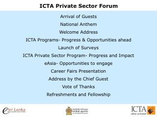 ICTA Private Sector Forum