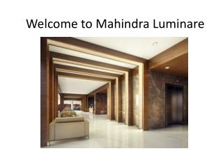 Mahindra Luminare Gurgaon Sector 59