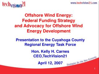 Offshore Wind Energy: Federal Funding Strategy  and Advocacy for Offshore Wind Energy Development