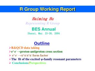 R Group Working Report