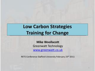 Low Carbon Strategies Training for Change