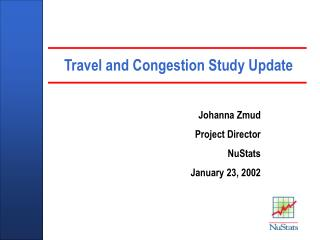 Travel and Congestion Study Update
