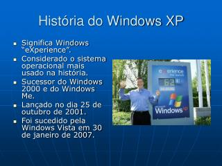 História do Windows XP