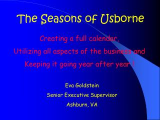 The Seasons of Usborne