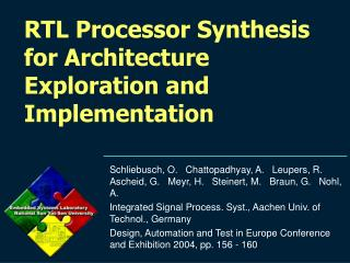 RTL Processor Synthesis for Architecture Exploration and Implementation