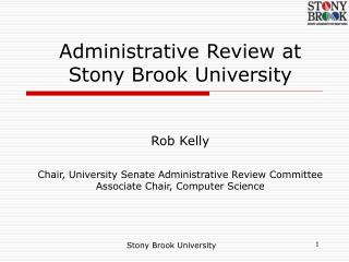Administrative Review at Stony Brook University