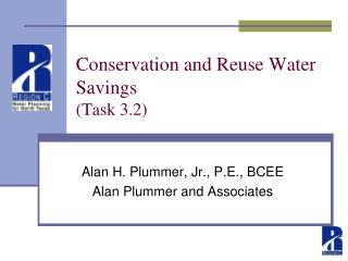 Conservation and Reuse Water Savings  (Task 3.2)