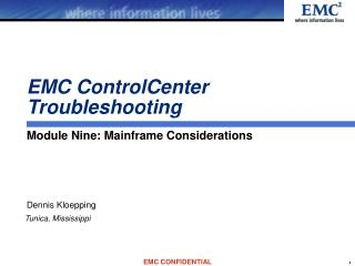EMC ControlCenter Troubleshooting
