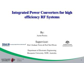 Integrated Power Converters for high efficiency RF Systems