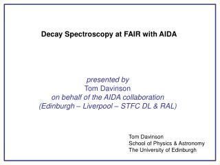 Decay Spectroscopy at FAIR with AIDA