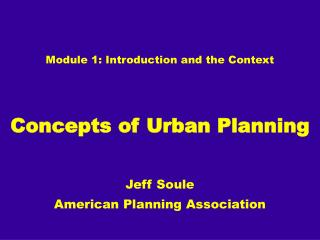 Module 1: Introduction and the Context