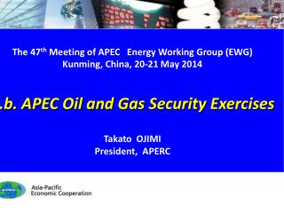 The 47 th  Meeting of  APEC Energy Working Group (EWG) Kunming, China, 20 -21 May 2014