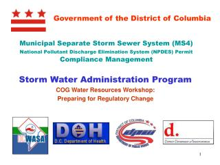 Municipal Separate Storm Sewer System (MS4)  National Pollutant Discharge Elimination System (NPDES) Permit  Compliance