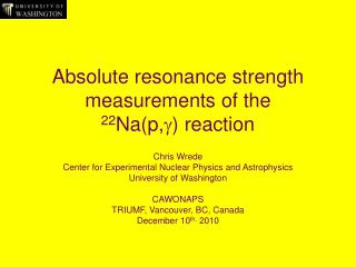 Absolute resonance strength measurements of the  22 Na(p, g ) reaction