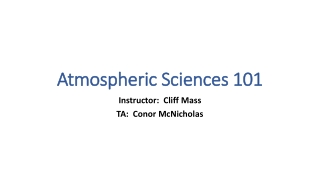 Chapter 13  Atmospheric Science and Air Pollution