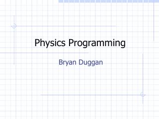 Physics Programming