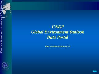 UNEP  Global Environment Outlook  Data Portal geodata.grid.unep.ch
