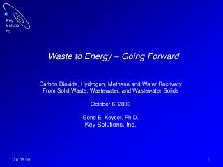 Waste to Energy – Going Forward